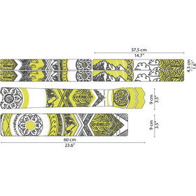 DYEDBRO Mandala Kit di Protezione del Telaio, trasparente/giallo